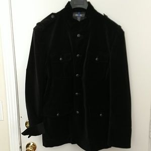Kenneth Cole Velvet military jacket